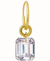 Lee Brevard Crystal Drilled Stone Single Earring