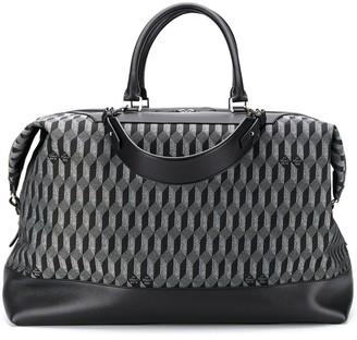 Au Départ Geometric Print Luggage Bag