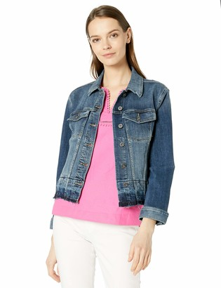 Vince Camuto Women's Released Hem Denim Jacket