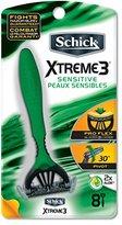 Schick Xtreme 3 Disposable Razors for Men Sensitive Skin Shaving Razor - 8 Count