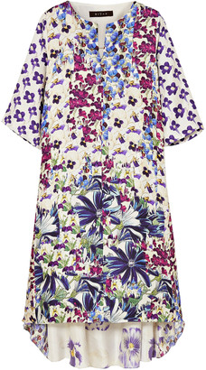 Biyan Arlo Floral-print Silk-twill Dress