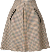 No.21 checked a-line skirt