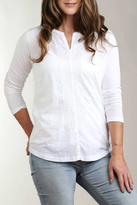 Casual Studio White Embroidered Knit Top