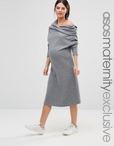 Asos LOUNGE Slouchy Dress with Cowl Neck
