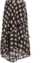 Preen Line Dixie checked woven midi skirt
