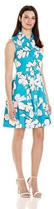 Sandra Darren Women's 1 Pc Sleeveless Cotton Sateen Shirt Dress