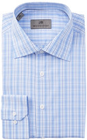 JB Britches Plaid Trim Fit Dress Shirt