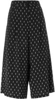 Societe Anonyme printed wide leg knee shorts