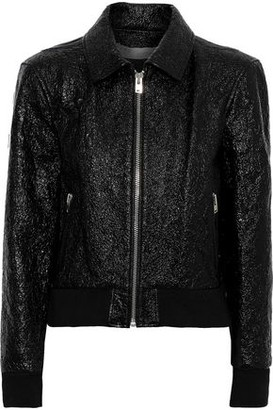 IRO Faces Cracked Patent-leather Jacket