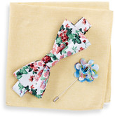 Original Penguin Ashwood Floral Bow Tie, Pocket Square, & Lapel Pin Set