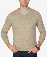 Nautica Men's Big & Tall Snowy V-Neck Sweater