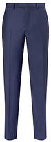 Daniel Hechter Sharkskin Tailored Suit Trousers, Indigo