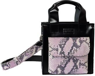 "Kartu Studio Natural Leather Handbag ""Cumin"" Black Lilac Snake Print"