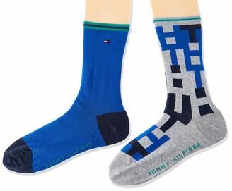 Tommy Hilfiger Boy's Kids Sock 2p Th Block