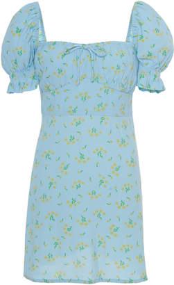Faithfull The Brand Iris Floral-Print Mini Dress