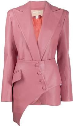 MATÉRIEL Asymmetric faux leather blazer