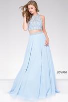 Jovani Two-Piece Chiffon Embellished Prom Dress 47848