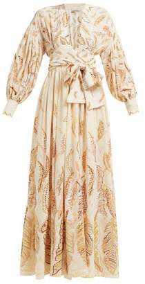 Three Graces London X Zandra Rhodes Francile Silk Wrap Dress - Womens - Cream Multi