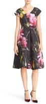 Ted Baker 'Nimah - Citrus Bloom' Print V-Neck Fit & Flare Dress