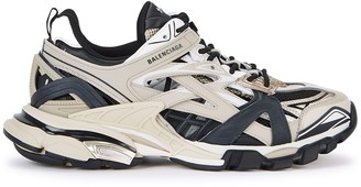 Balenciaga Track2 taupe and black mesh sneakers