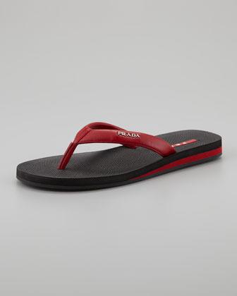 Prada Flip-Flop in a Bag, Red