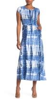 Velvet Torch Short Sleeve Maxi Side Slit Dress