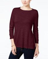 Karen Scott Petite Luxsoft Roll-Neck Sweater, Only at Macy's