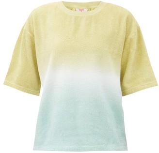 Terry - Oversized Tie-dye Cotton-terry T-shirt - Green Stripe