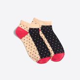 J.Crew Factory Contrast dot ankle socks