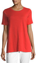 Eileen Fisher Short-Sleeve Slubby Jersey Tee