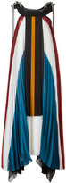Chloé pleated long dress - women - Silk/Cotton/Polyamide/Acetate - 38