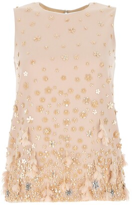 Max Mara Sleeveless Sequinned Top