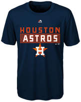 Majestic Houston Astros Block T-Shirt, Big Boys (8-20)
