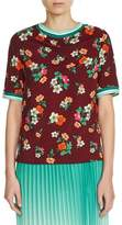Maje Women's Floral Print Top