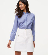 LOFT Bi-Stretch Buttoned Shift Skirt