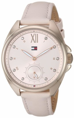 Tommy Hilfiger Women's Casual Stainless Steel Quartz Watch with Leather Strap Pink 16 (Model: 1781992)