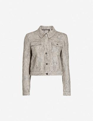 Ted Baker Rhona metallic woven jacket