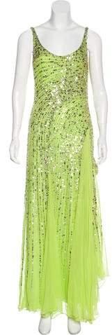 Elie Saab Sequined Silk Gown