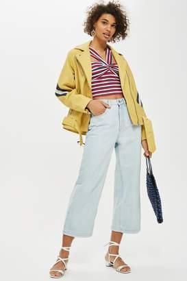 Topshop Womens Super Bleach Cropped Jeans - Bleach Denim