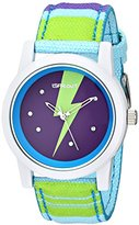 Sprout Women's ST/5531PRMT Lightning Multi-color Organic Cotton Strap Watch