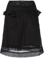 Peter Jensen frill pocket embroidered skirt