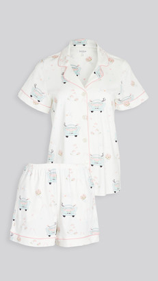 Bedhead Pajamas Just Married Short Sleeve Classic Shorty PJ Set