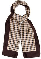 Aquascutum London Silk Plaid Scarf