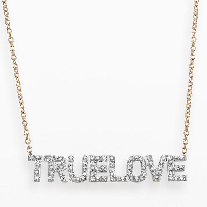 JLO by Jennifer Lopez Jlove by 10k gold 1/7-ct. t.w. diamond true love necklace