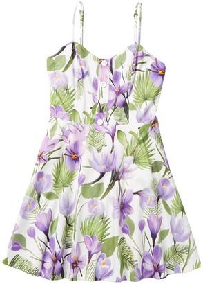 Alice + Olivia Nella Floral Fit & Flare Dress