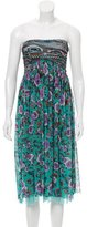 Jean Paul Gaultier Strapless Floral Print Dress w/ Tags