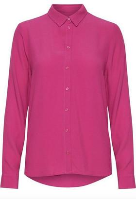 Ichi Ihamanda SH Fuchsia Long Sleeve Blouse - S | fuchsia pink | viscose - Fuchsia pink