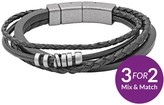 Fossil Casual Leather Multistrand Bracelet