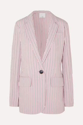 Tibi Oversized Striped Twill Blazer - Blush