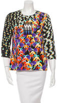 Peter Pilotto Long Sleeve Ornate Print Top